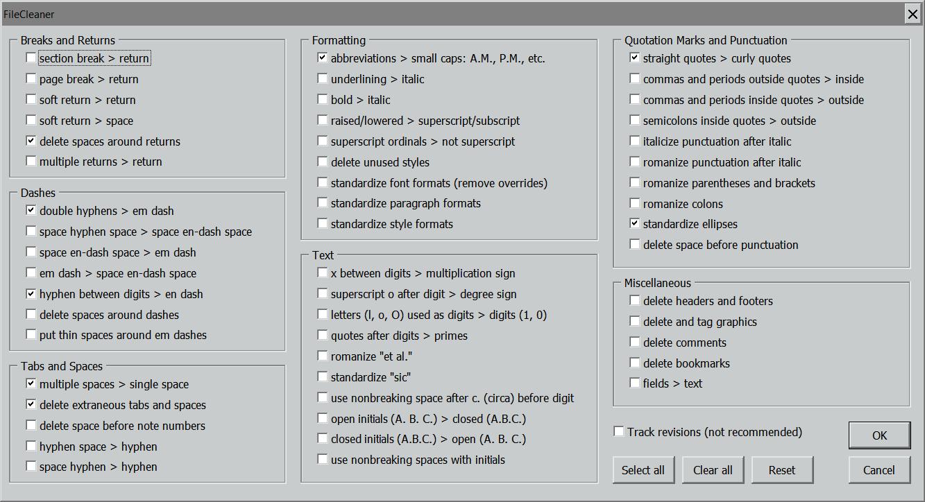 FileCleaner Dialog