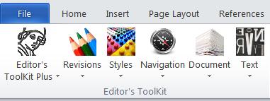 Editors ToolKit Menu